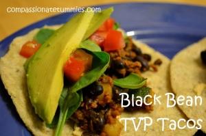 Black Bean TVP Tacos
