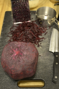 I think my beet was a little large. It's okay, I have plans for the rest of that...
