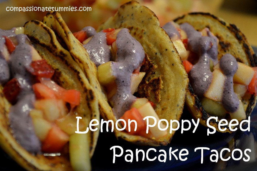 Lemon Poppy Seed Pancake Tacos filled with Cinnamon Fruit Salad and ...