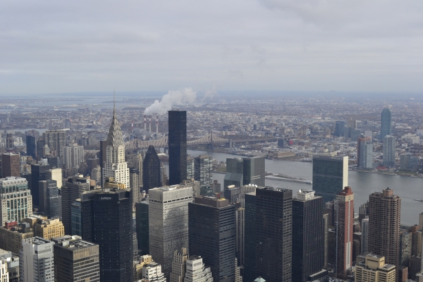 View of the Chrysler Building from the top of the Empire State Building