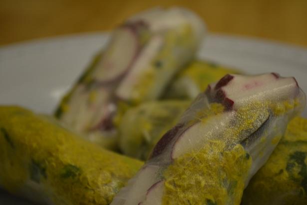 Quinoa Scramble Spring Rolls