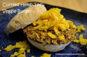 Curried Hemp Tofu Veggie Burger
