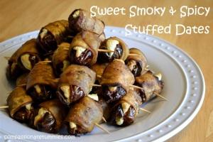 Sweet Smoky & Spicy Stuffed Dates