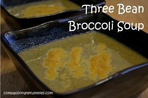 Three Bean Broccoli Soup