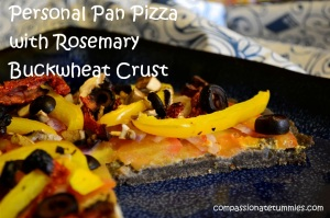Personal Pan Pizza with Rosemary Buckwheat Crust