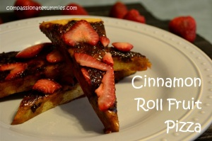 Cinnamon Roll Fruit Pizza