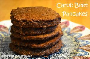 Carob Beet Pancakes