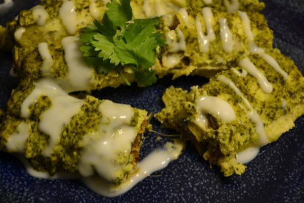 Verde Mushroom Enchiladas