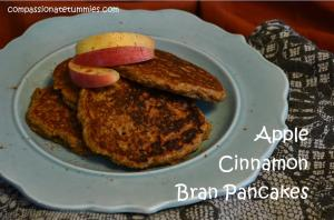 Apple Cinnamon Bran Pancakes