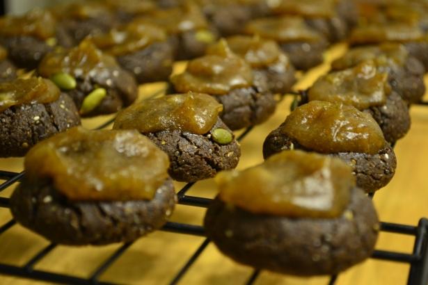 Carob Christmas Cookies with Caramel