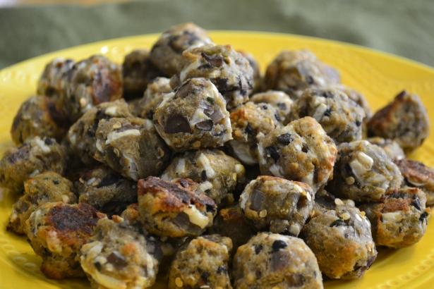 Eggplant Mushroom mini meatballs