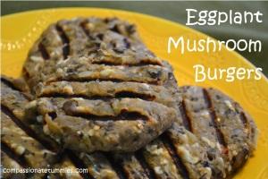 Eggplant Mushroom Burger